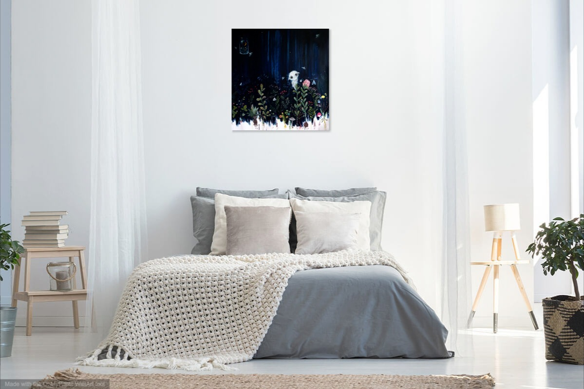 Botanicum  artwork in bed room