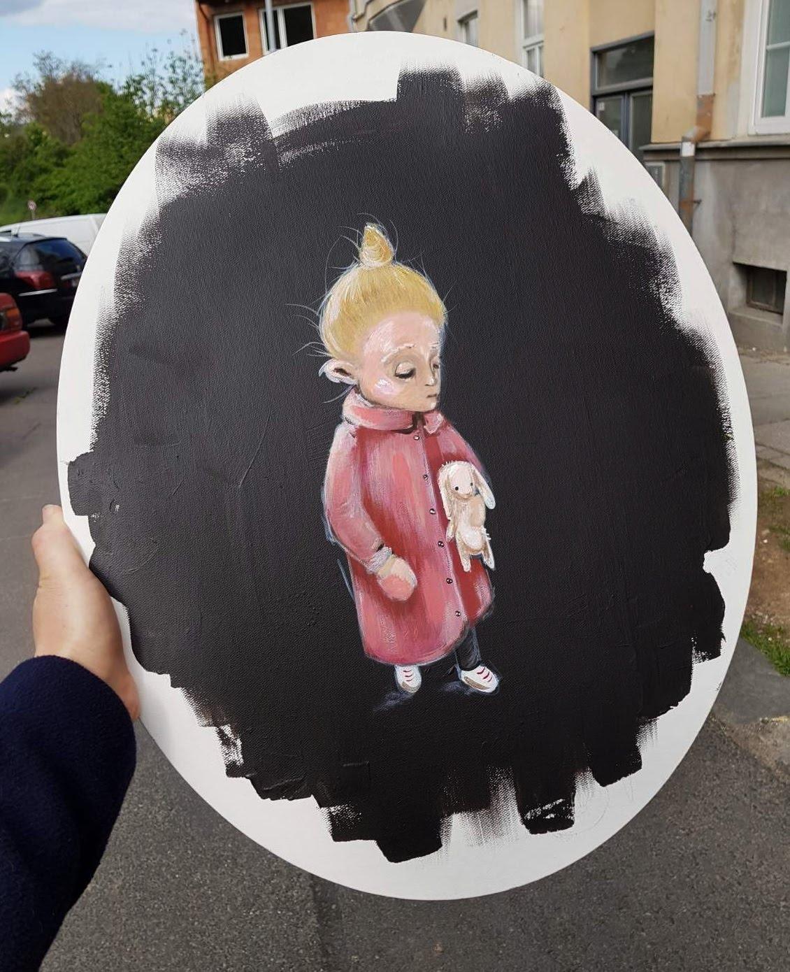 Gabi – Akryl na plátně – PRODÁNO