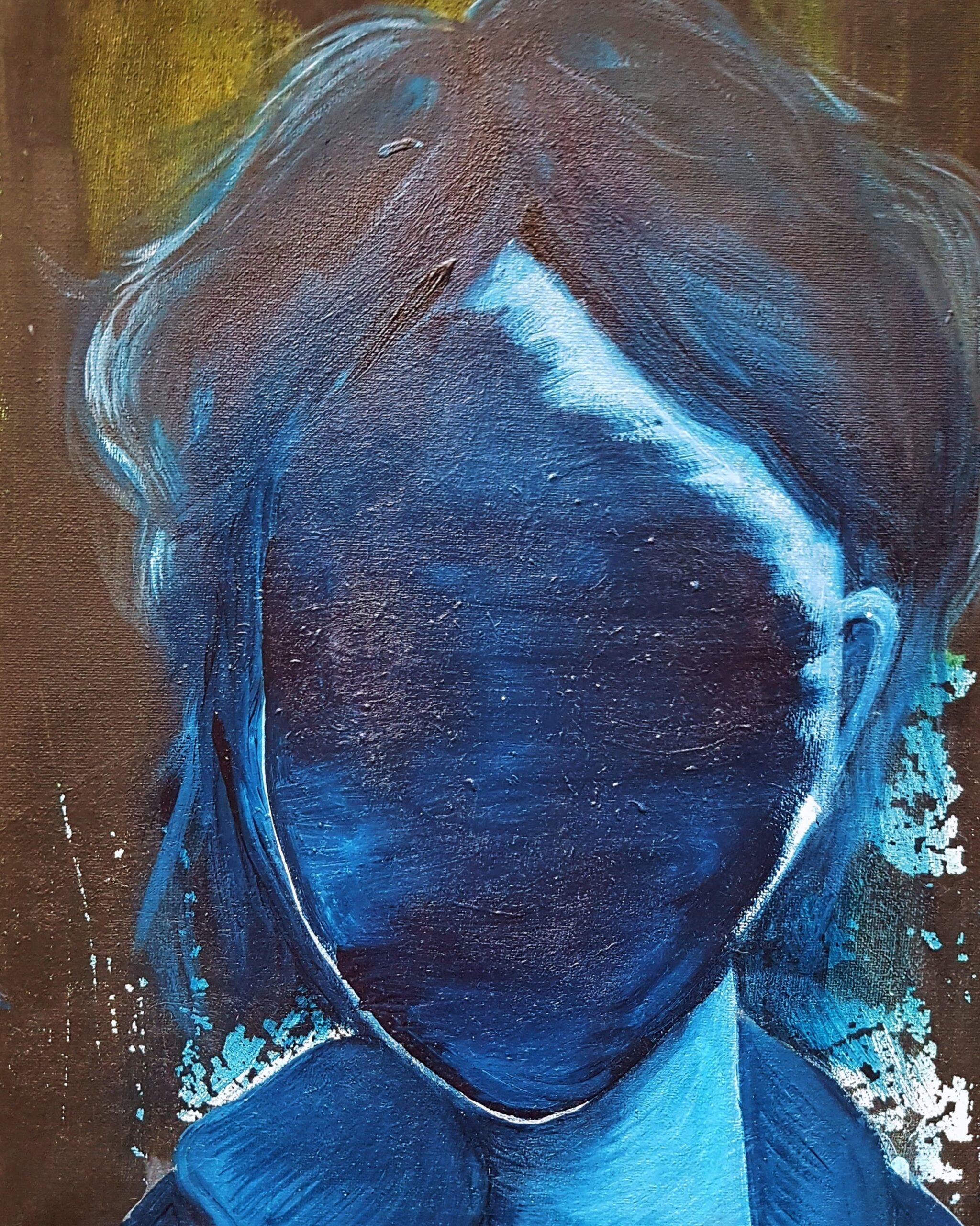 Bouře v hlavě – Akryl na plátně – PRODÁNO